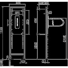 Монтажная рама для поручней для людей с ограниченными физическими способностями AlcaPlast A106/1120