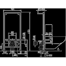 Монтажная рама для подвесного унитаза AlcaPlast A113/1120
