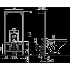 Монтажная рама для подвесного унитаза AlcaPlast A114/1120
