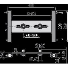 Монтажная рама для гипсокартонной конструкции под установку настенного смесителя AlcaPlast A117B