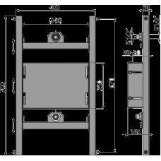 Монтажная рама для гипсокартонной конструкции под установку смесителя скрытого монтажа AlcaPlast A117PB