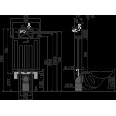 Бачок для унитаза для замуровывания в стену AlcaPlast Alcamodul AM100/1000