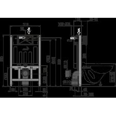 Инсталляция для унитазов AlcaPlast Sadromodul AM101/850