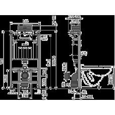 Инсталляции для унитазов AlcaPlast Sádromodul AM118/1000