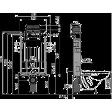 Инсталляции для унитазов AlcaPlast Renovmodul AM119/1000