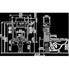 Инсталляции для унитазов AlcaPlast Renovmodul AM119/850