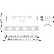 Душевой лоток AlcaPlast APZ1001-1050