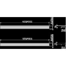 Pейка AlcaPlast для пола с уклоном APZ905M/1000 двухсторонняя, универсальная, 1 м