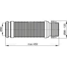 Гибкое колено AlcaPlast 90/110 flexi M9006