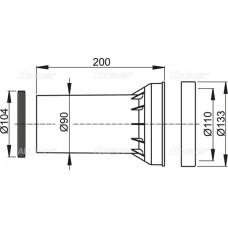 Прокладка + соединитель + прокладка соединителя AlcaPlast M902