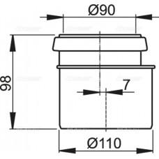 Соединитель комплект для 90/110 AlcaPlast M907