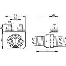 Консоль для подключения воды AlcaPlast P103