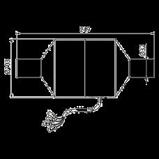 Bентилятор для скрытых систем инсталляции c возможностью вентиляции AlcaPlast P128