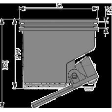 Гидрозатвор комбинированный AlcaPlast P144 для APZ-S9 для желоба APZ13