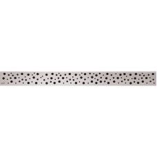Решетка для лотков AlcaPlast BUBLE-650M нержавеющая сталь матовая