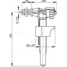 """Впускной механизм с боковой подводкой (для керамических бачков), арт. A15-1/2"""""""