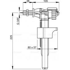 """Впускной механизм с боковой подводкой для керамических бачков, арт.A15-3/8"""""""