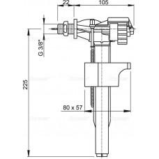 """Впускной механизм с боковой подводкой (для пластиковых бачков), арт. A15P-3/8"""""""
