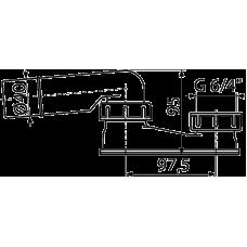 Гидрозатвор сниженный, арт. A532-DN40