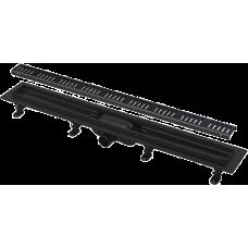 Simple - Водоотводящий желоб с порогами для перфорированной решетки, арт.APZ10BLACK-550M
