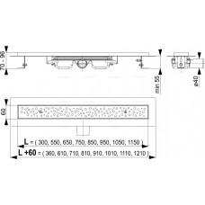 Водоотводящий желоб Antivandal с решеткой, арт. APZ11-300M