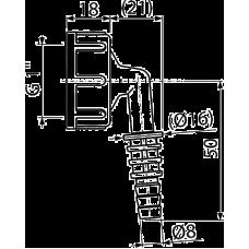"""Штуцер для шланга с резьбой G1""""/8-16, арт. P0049-ND"""