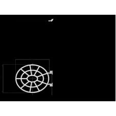 Видуар с откидной решеткой Alca, арт.WS ALCA