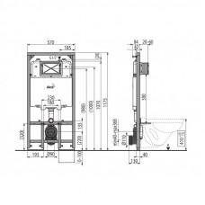 Инсталляция для унитазов AlcaPlast Sadromodul Slim AM1101/1200