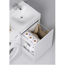 Forma напольная тумба с бельевой корзиной справа и двумя отсеками для хранения хозяйственных принадлежностей с умывальником с крылом под стиральную машинку 115 см