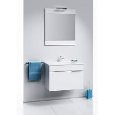 Бриг панель с зеркалом 70 см. и светильником, белый Br.02.07/W,