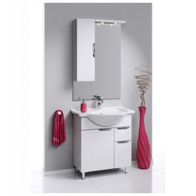 ЭкоЛайн  Панель с зеркалом, шкафчиком и подсветкой  Eco-L.02.08,