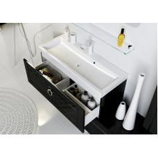 Инфинити, Тумба под умывальник 80 см. подвесная с ящиком, цвет черный Inf.01.08/001/BLK,
