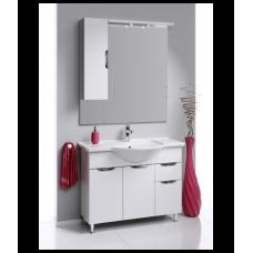 ЭкоЛайн  Панель с зеркалом, шкафчиком и подсветкой  Eco-L.02.10,