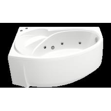 Ванна BAS ФЭНТАЗИ 1500х880(левая) с гидромассажем FLAT ВГ00254(ванна + каркас + слив-перелив)