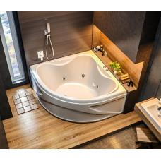 Ванна BAS РИОЛА 1350х1350 с гидромассажным оборудованием FLAT ВГ00198(ванна + каркас + слив-перелив)