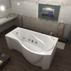 Ванна BAS КАПРИ 1700 x 800 правосторонняя с гидромассажем FLAT ВГ00101ванна + каркас + слив-перелив)