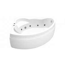 Ванна BAS ЛАГУНА 1700 x 1100 левосторонняя с гидромассажем FLAT ВГ00111(ванна + каркас + слив-перелив)