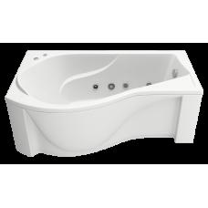 Ванна BAS КАПРИ 1700 x 800 левосторонняя с гидромассажем FLAT ВГ00095(ванна + каркас + слив-перелив)
