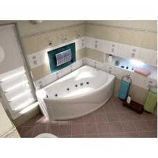 Ванна BAS НИКОЛЬ правосторонняя 1700х1020 с гидромассажем FLAT ВГ00180(ванна + каркас + слив-перелив)
