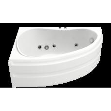 Ванна BAS АЛЕГРА 1500 x 900 с гидромассажем FLAT (левая)ВГ00002 (ванна + каркас + слив-перелив)