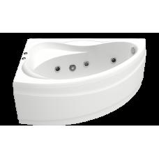 Ванна BAS ВЕКТРА 1500 x 900 с гидромассажем FLAT (левая)ВГ00039 (ванна + каркас + слив-перелив)