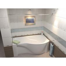 Акриловая ванна BAS КАПРИ 1700 x 800 правосторонняя В 00016(ванна + каркас + слив-перелив)