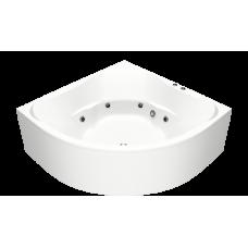Акриловая ванна BAS РИВЬЕРА 1610х1610 с гидромассажным оборудованием FLAT ВГ00190(ванна + каркас + слив-перелив)