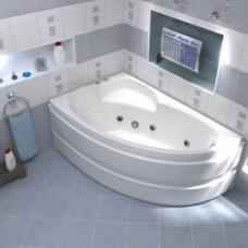 Акриловая ванна САГРА 1600 х 1000 левосторонняя В 00031(ванна + каркас + слив-перелив)