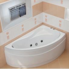 Ванна BAS ВЕКТРА 1500 x 900 с гидромассажем FLAT (правая)ВГ00047(ванна + каркас + слив-перелив)