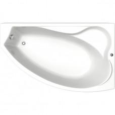 Акриловая ванна BAS НИКОЛЬ правосторонняя1700х1020 В 00028(ванна + каркас + слив-перелив)