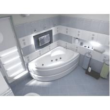 Ванна BAS САГРА 1600 х 1000(правая) с гидромассажем FLAT ВГ00213(ванна + каркас + слив-перелив)