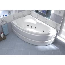 Ванна BAS САГРА 1600 х 1000(левая) с гидромассажем FLAT ВГ00203(ванна + каркас + слив-перелив)