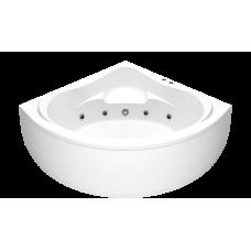 Акриловая ванна BAS МЕГА 1600х1600 с гидромассажным оборудованием FLAT ВГ00150(ванна + каркас + слив-перелив)