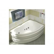Ванна BAS АЛЕГРА 1500 x 900 с гидромассажем FLAT (правая)ВГ00007 (ванна + каркас + слив-перелив)